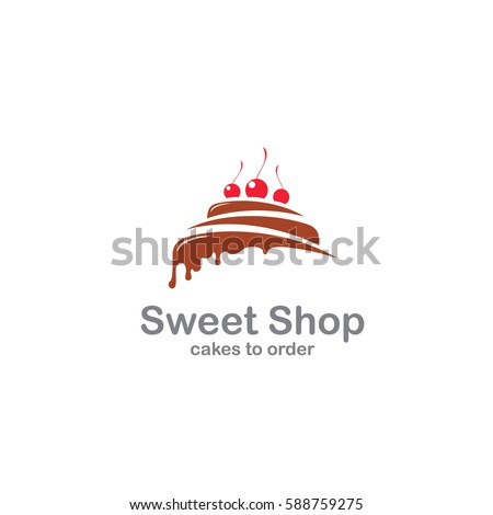 sweet shop logo template design