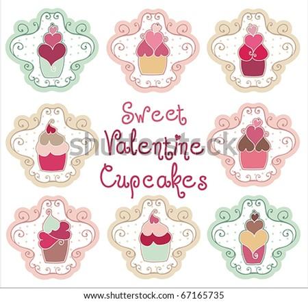 valentine cupcakes. Sweet Valentine Cupcakes