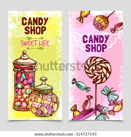 sweet vertical banner set with
