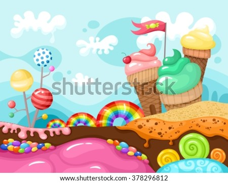 sweet world illustration