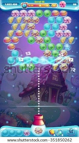 sweet world mobile gui game