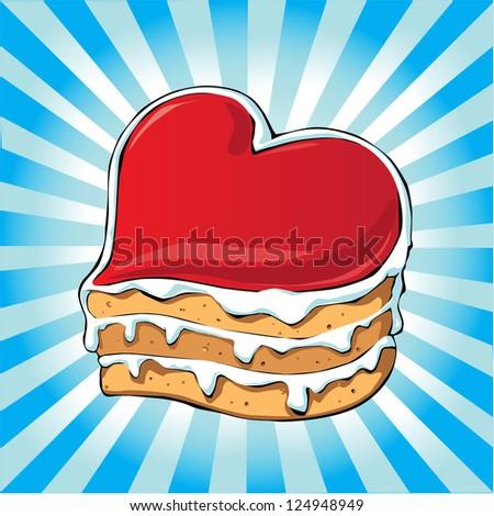 sweetheart cake  sponge cake