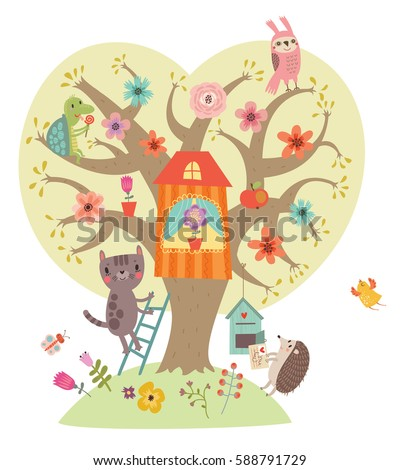 sweetheart illustration tree