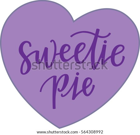 sweetie pie purple conversation