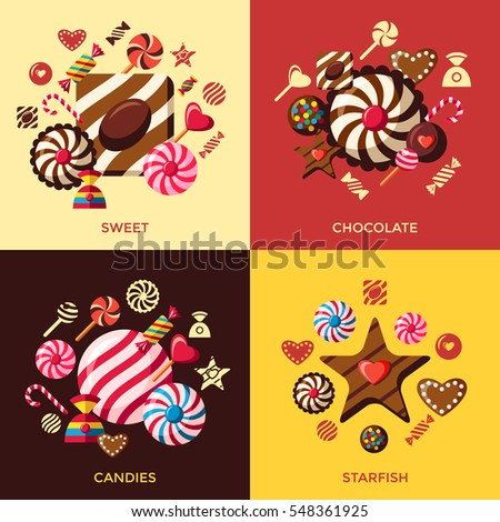 sweets candy background