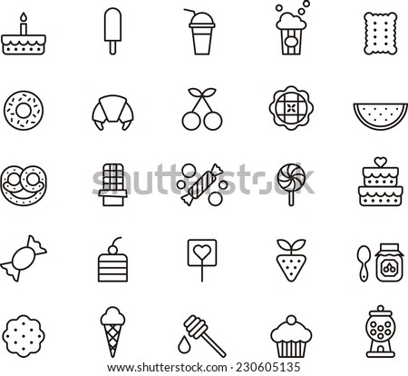 sweets   candy icon set