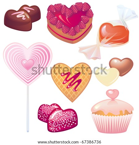 Sweets collection for Valentine's day