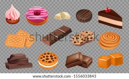 sweets collection realistic