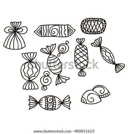 Sweets. Vector illustration. #480851623