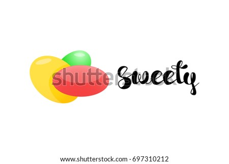 sweety hand lettering with