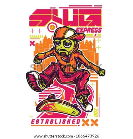 swg robo skate illustration