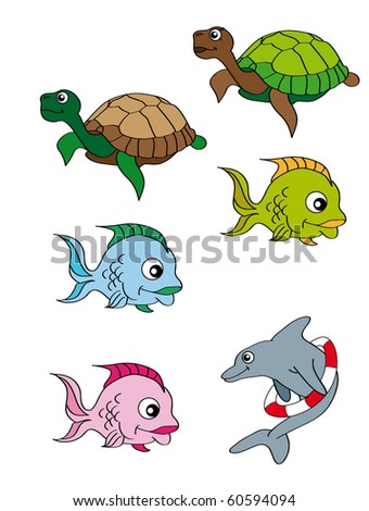 swim animal - stock vector