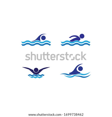 Swim logo template vector icon design