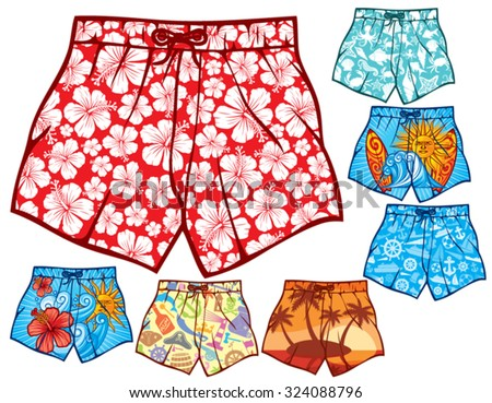 Alone Elephant Sea Cute Animals Summer Swimming Trunks Beachwear Shorts