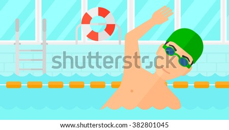 swimmer training in pool