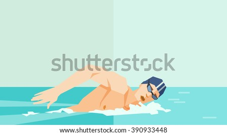 swimmer vector illustration