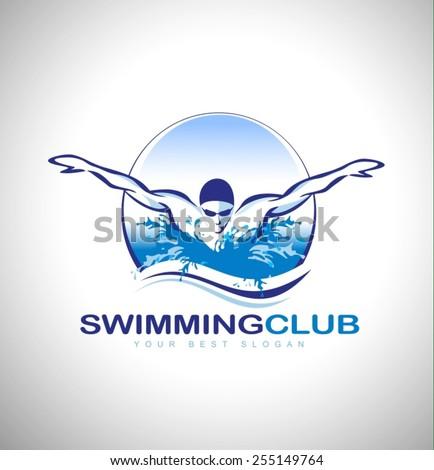 Swim Club Logo Swimming Club Logo Design