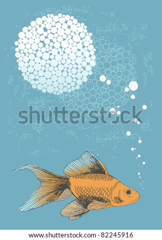 Swimming Goldfish with Thought Bubbles