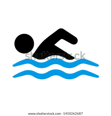 swimming icon. Logo element illustration. swimming symbol design. colored collection.  swimming concept. Can be used in web and mobile