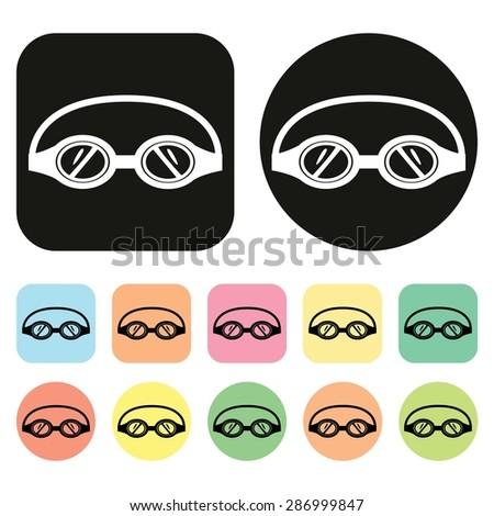 swimming icon swimming goggles