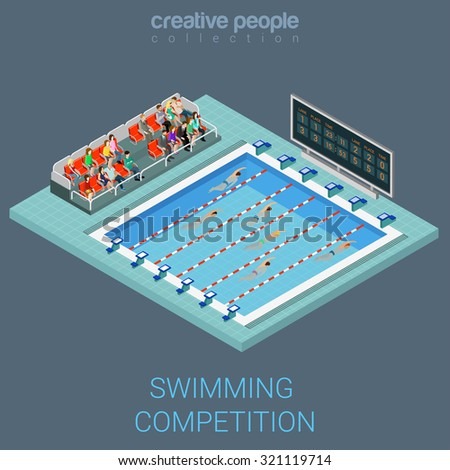 swimming pool competition flat
