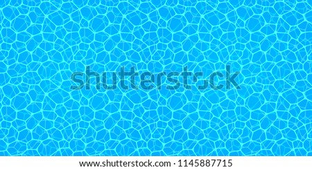 Swimming pool seamless texture. Water surface background.repeated pattern. Summer wallpaper. Abstract vector backdrop. watery background. sea, ocean aquatic center, summer , travel, vacation designs