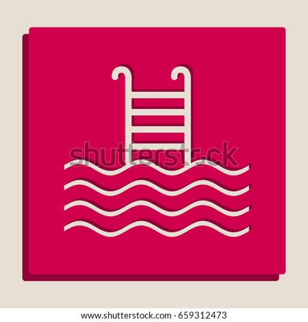 swimming pool sign vector