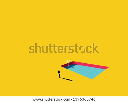swimming pool vector cartoon in