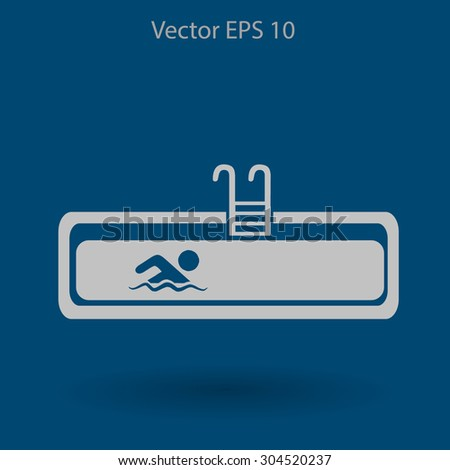 swimming pool vector...