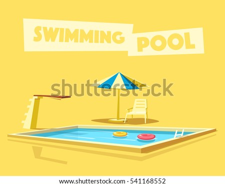 swimming pool with a diving...