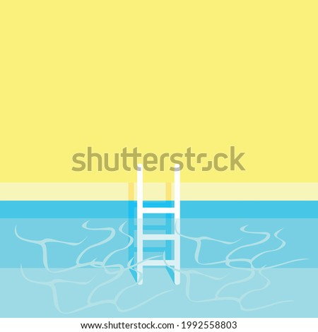 swimming pool with stairs and