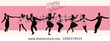 swing party time  silhouettes