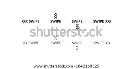 Swipe icon. Up arrow button symbol. Social media scrollsign, slide logo design in vector flat style.