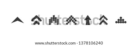 Swipe up set. Swipe up icon. Swipe up black colored. vector icon. Swipe up vector collection. Vector illustration Stockfoto ©