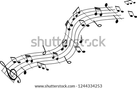 swirl and flurry of musical notes