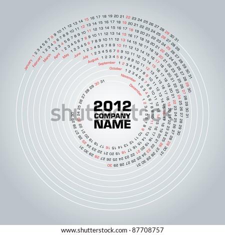 Swirl calendar 2012 Сток-фото ©