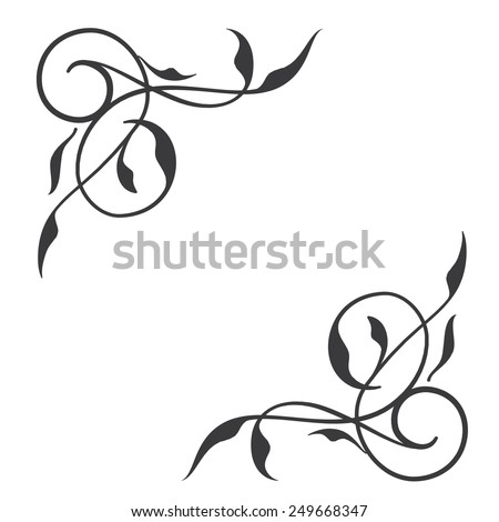 Flower Corner Border Designs Vector Free