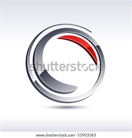 swirl 3d vector icon such logos..