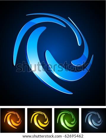 Swirl 3d vector icon such logos.