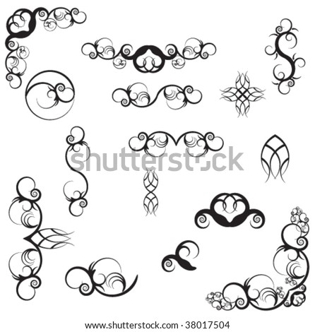 swirl tattoo designs on Fancy Swirl Background Stock Vector Shutterstock Tattoo