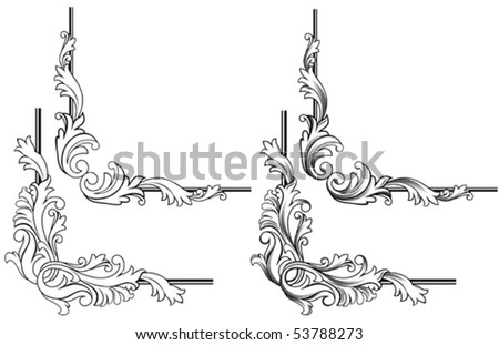 Swirl elements and monograms for design and decorate. Jpeg version also available in gallery