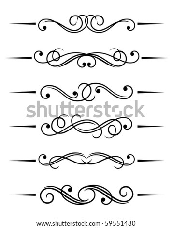 Swirl elements and monograms for design. Jpeg version also available in gallery