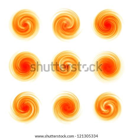 Swirl elements for design. Vector illustration.
