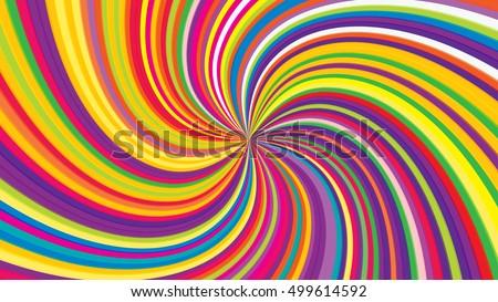 Swirling radial background. Vortex background. Helix background. Colorful vector background.