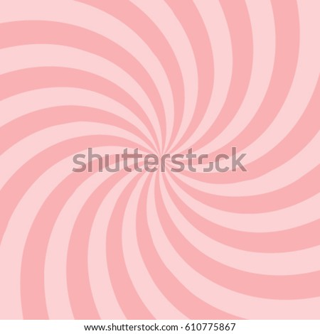 Swirling radial pattern background. Vector illustration Converging psychedelic scalable stripes. Fun sun light beams.