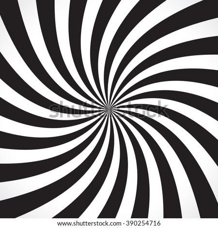 swirling radial pattern