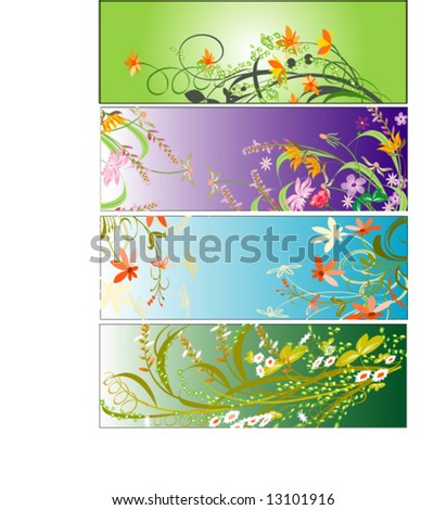 Swirly Floral Design Elements