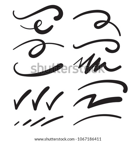 Swishes, Swashes, Swoops, Swooshes, Scribbles, & Squiggles for Typography Emphasis