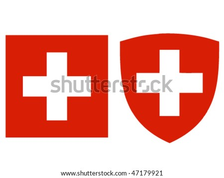 swiss flag and crest