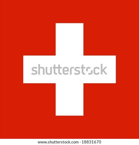 Swiss flag vector isolated illustration